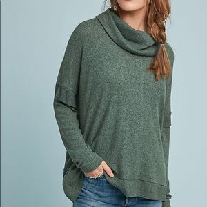 Laden Cowl Neck Pullover Olive Small
